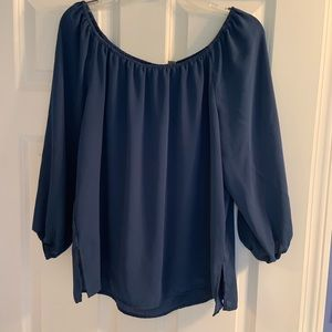 NY&CO teal blue top